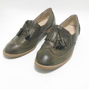 Dakeniman. Iconic loafer. Olive green. Size 10